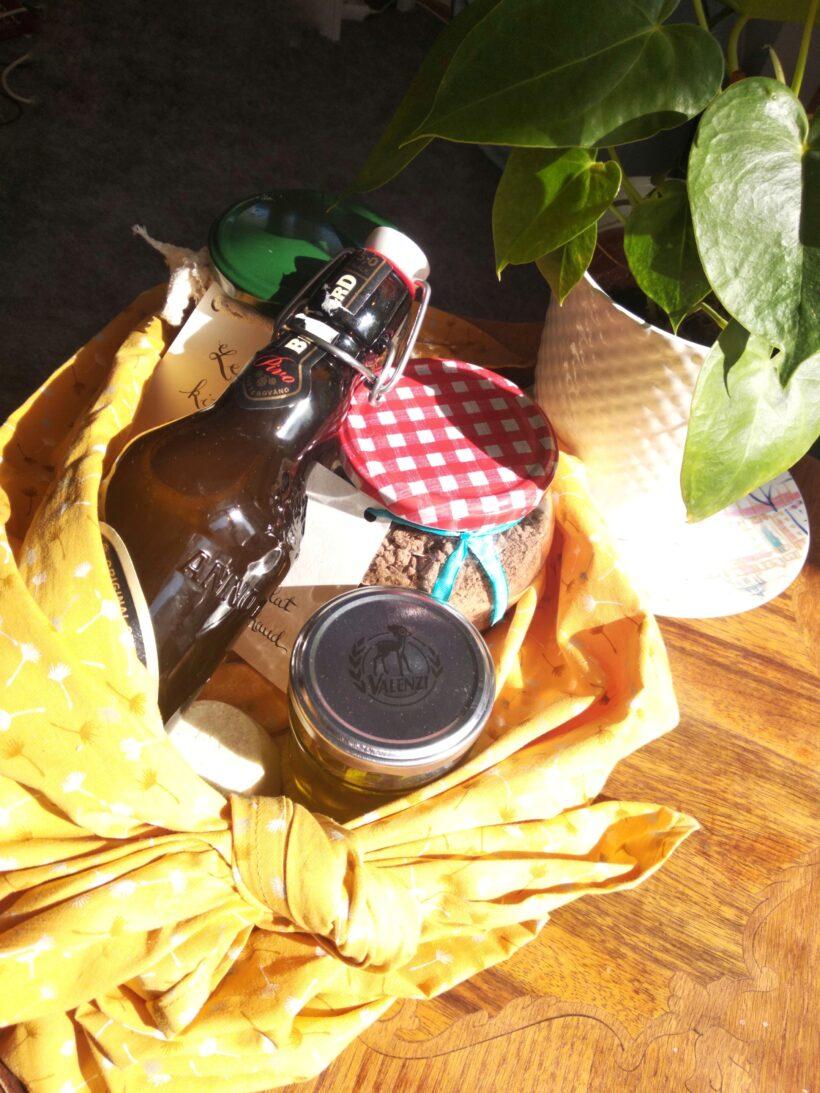 Cadeaux zéro-déchet furoshiki bocaux diy
